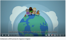 NHS entitlements for migrants video