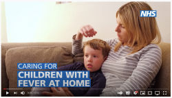 Caring for a child with fever video